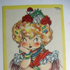 Postales: POSTAL COLECCION DE POSTALES MARI PEPA ILUSTRADA MARIA CLARET SERIE U Nº 2 AÑO 1947. Lote 132828642