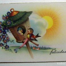 Postales: POSTAL FELICIDADES EDICIONES C Y Z SERIE 525/A AÑO 1949. Lote 132857230
