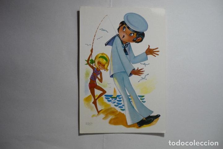 POSTAL DIBUJO MARINERO -ESCRITA (Postales - Dibujos y Caricaturas)