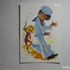 Postales: POSTAL DIBUJO MARINERO -ESCRITA. Lote 133818242