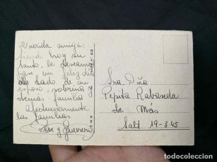 Postales: BONITA POSTAL - EDICION CMB SERIE Nº 53. DATA 1945 -CIRCULADA - Foto 2 - 133854234