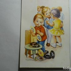 Postales: POSTAL NIÑOS BAILANDO -DIBUJO GIRONA -ESCRITA. Lote 134880926