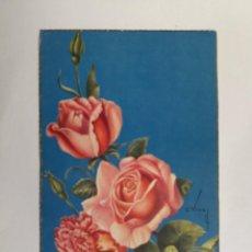 Postales: TARJETA POSTAL - FLORES - FELICIDADES - ED. CYZ 528/B - ILUSTRA VIVES. Lote 135100490