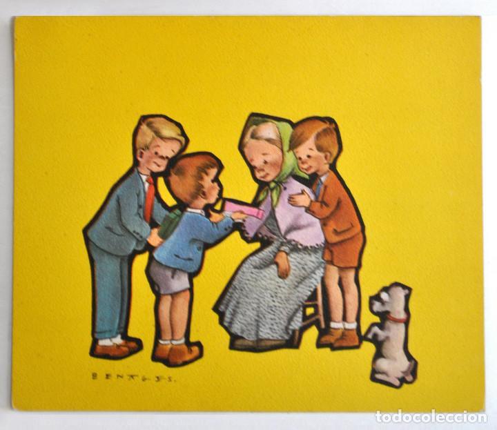 BENAGES ,DÍPTICO ZLA-4 ED.ORTIZ (Postales - Dibujos y Caricaturas)
