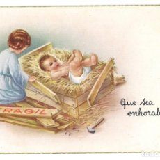 Postales: -72214 POSTAL DIBUJO NACIMIENTO DE UN BEBE, FELICITACION, C Y Z 523, ESCRITA AÑO 1965. Lote 135453538