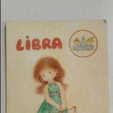 Postales: POSTAL DEL SIGNO LIBRA. CARICATURA DE CONI. IMPRESA EN BARCELONA. SIN CIRCULAR. Lote 135843594