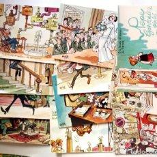 Postales: TARJETAS POSTALES COLECCIÓN 11 POSTALES MINGOTE LOTERIA NACIONAL - SERIE E COMPLETA - F.N.M.T. 1970. Lote 136193518