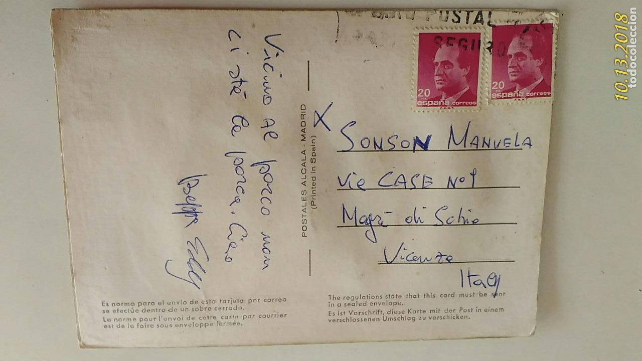 Postales: Postal de niños. # 24. Jerez, Andalucía. Caricatura de Isabel. Bordada y tela. Circulada. - Foto 2 - 136198246