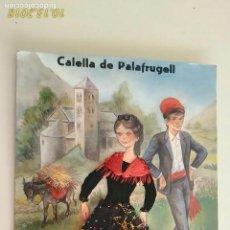 Postales: POSTAL. PAREJA. # 245. CALELLA DE PALAFRUGELL. CARICATURA DE LUPE. BORDADA Y ENCAJE. CIRCULADA.. Lote 136235458