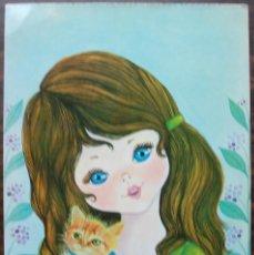 Postales: TARJETA POSTAL BERGAS (GIRL). Lote 136372694