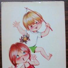 Postales: TARJETA POSTAL BERGAS (PAREJAS INFANTIL). Lote 136372918