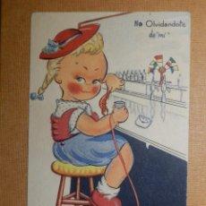 Postales: POSTAL DIBUJOS Y CARICATURAS - EXCLUSIVAS SANTA CRUZ - OLVIDANDO - ESCRITA EN 1946. Lote 138639786