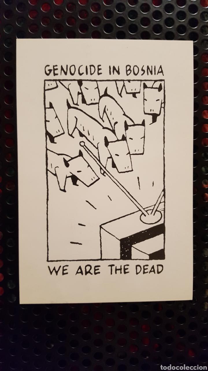 MAX - POSTAL PROMOCIONAL DE UN EXPOSICIÓN -GENOCIDE IN BOSNIA WE ARE THE DEAD DEL CREADOR DE GUSTAVO (Postales - Dibujos y Caricaturas)