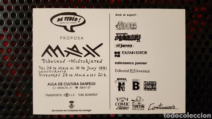 Postales: Max - Postal promocional de una exposición Del creador de Peter Pank, Gustavo, Bardin... 10 x 15 cm - Foto 2 - 139284512