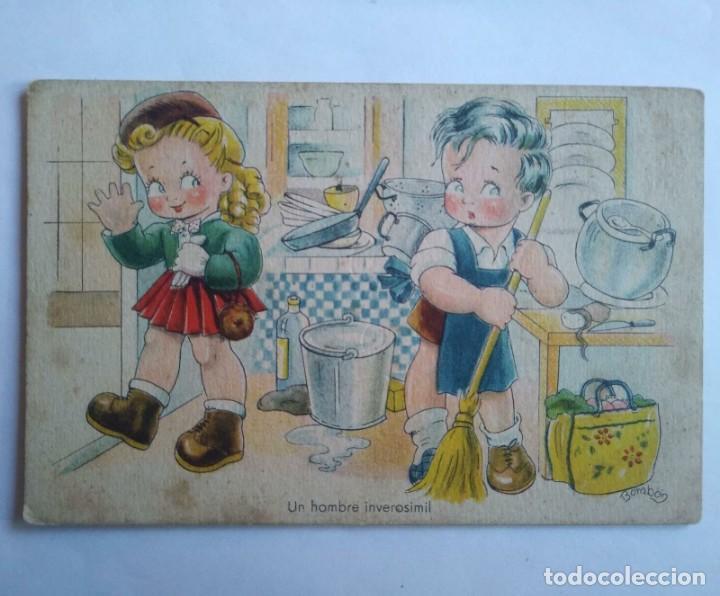 UN HOMBRE INVEROSÍMIL BOMBÓN ÉXITOS DE LA PANTALLA 1946 (Postales - Dibujos y Caricaturas)