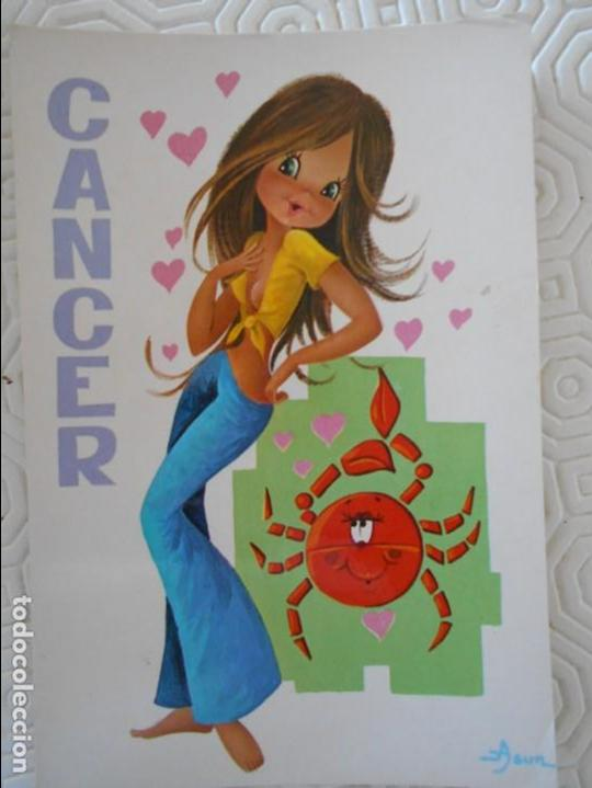CANCER. DEL 21 DE JUNIO AL 21 DE JULIO. POSTAL. (Postales - Dibujos y Caricaturas)