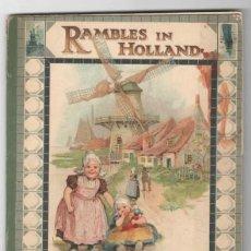 Postales: RAMBLES IN HOLLAND. POSTCARD PAINTING BOOK. FRANCES BRUNDAGE. Lote 139658362