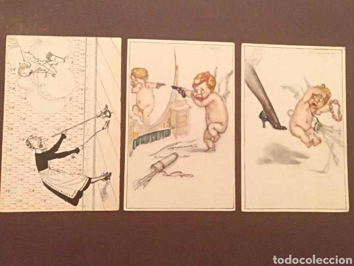 LOTE TRES POSTALES (Postales - Dibujos y Caricaturas)