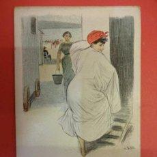 Postales: ANTIGUA POSTAL MODERNISTA ILUSTRADA POR UTRILLO. Lote 140855142