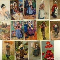 Postales: LOTE 14 POSTALES ILUSTRADAS - TUCK'S POST CARD - C. 1910 - S/CIRCULAR. Lote 142122670