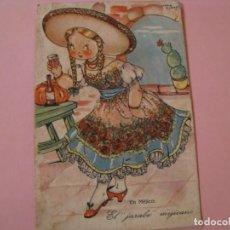 Postales: POSTAL DIBUJO. MARIA CLARET. ED. J. G. VALVERDE. COL. MARI-PEPA. SERIE XX, Nº 1. EN MEJICO.. Lote 142778026