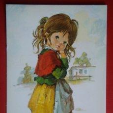 Postales: BONITA POSTAL NIÑA ILUSTRA VERNET. Lote 143039466