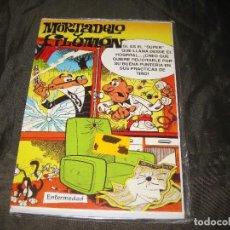 Postales: POSTAL MORTADELO Y FILEMÓN TAMAÑO CUARTILLA 1994 EXCEDENTE DE PAPELERÍA Y EN SU FUNDA. Lote 143735458