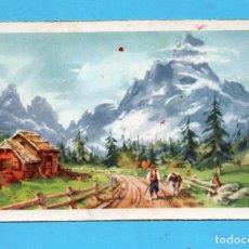 Postales: BONITA POSTAL DE PAISAJE MONTAÑAS CON NIEVE EDITOR CYZ ESCRITA EL AÑO 1951. Lote 144445846