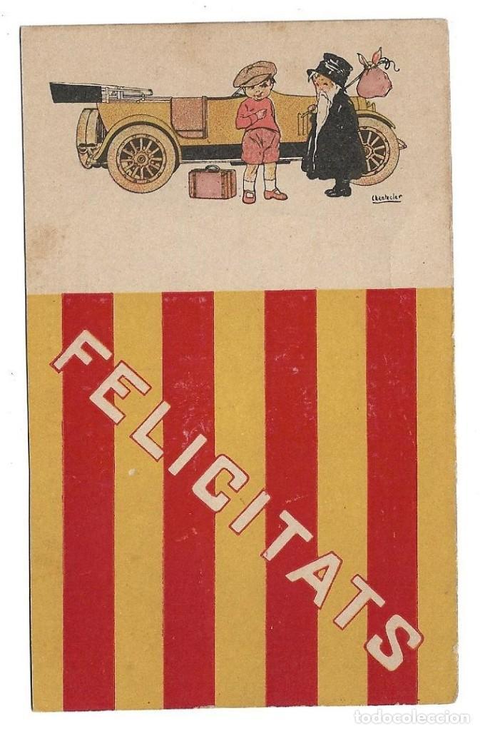 EDICIONES VICTORIA , COLL SALIETI.- Nº 288 FELICITATS .- ILUSTRA CHANTECLER (Postales - Dibujos y Caricaturas)