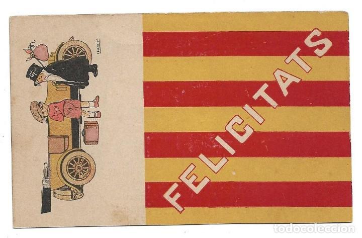 Postales: EDICIONES VICTORIA , COLL SALIETI.- Nº 288 FELICITATS .- ILUSTRA CHANTECLER - Foto 2 - 144566194