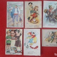Postales: POSTALES DE DIBUJOS , CARICATURAS. Lote 145384870