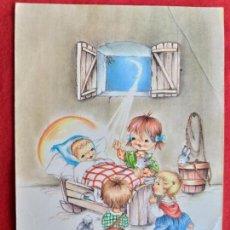 Postales: POSTAL INFANTIL. CARICATURA NIÑOS. FRASE. CARICATURA DE SARA.. Lote 145907226