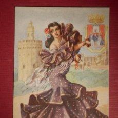 Postales: POSTAL - DIBUJOS Y CARICATURAS - ANDALUCIA - TRAJES REGIONALES - EDICIONES F. MOLINA - NUEVA. Lote 145939378