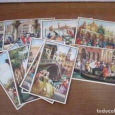 Postales: LOTE 12 POSTALES -BARROCO , VENEZIA - ED. G. SCARSO - ILUSTRADOR DIBUJANTE BERTANI - POSTAL 9X14 CM. Lote 146532190