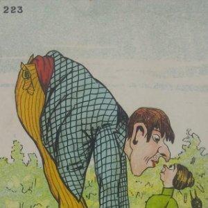 223 Postales Humor. Gigante. Beso.