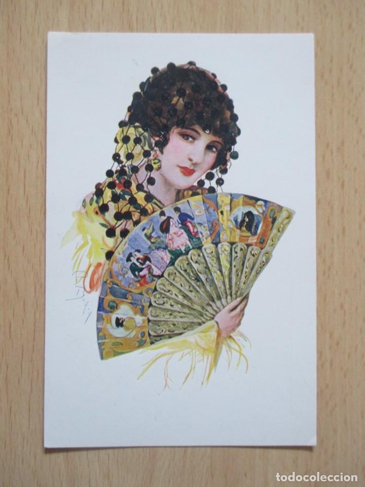 Postales: Lote de 7 tarjetas postales antiguas ilustradas por Badía - Foto 11 - 147501034