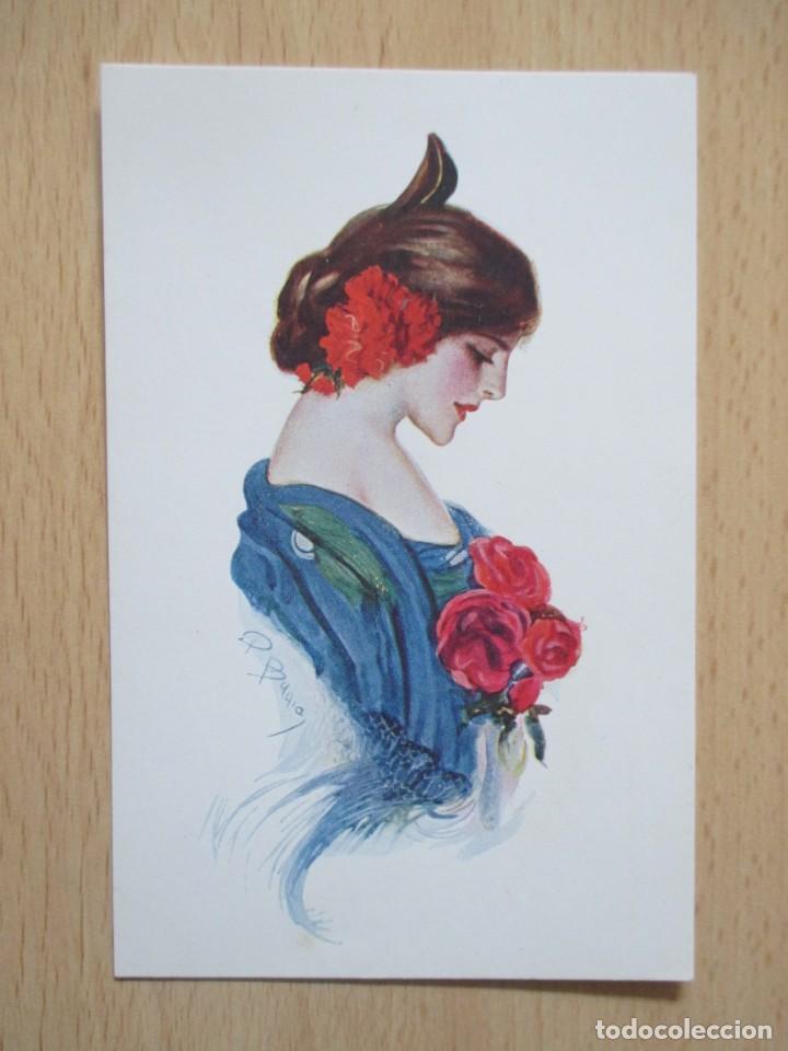Postales: Lote de 7 tarjetas postales antiguas ilustradas por Badía - Foto 17 - 147501034
