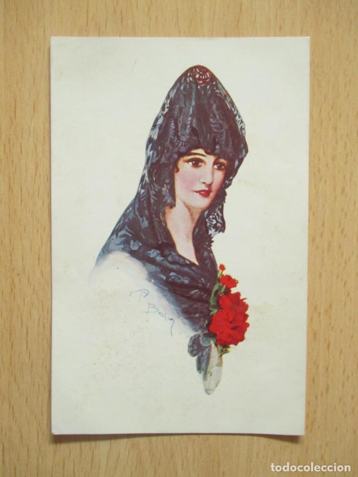 Postales: Lote de 7 tarjetas postales antiguas ilustradas por Badía - Foto 19 - 147501034