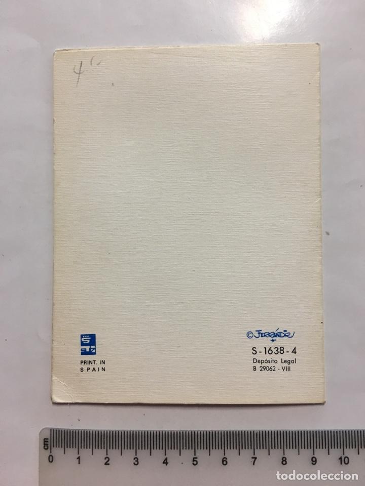 Postales: FELICITACIÓN. DIPTICO. SUBI. ILUSTRACIÓN FERRANDIZ. H. 1968? - Foto 2 - 147607838