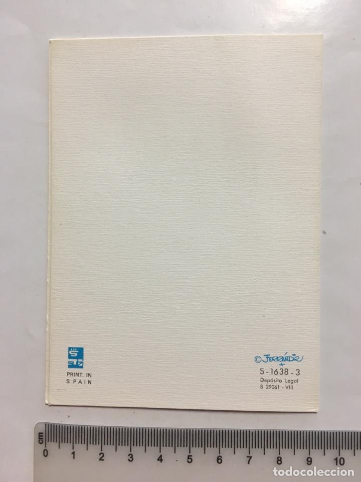 Postales: FELICITACIÓN. DIPTICO. SUBÍ. ILUSTRACIÓN FERRANDIZ. H. 1960? - Foto 2 - 147608877