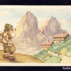 Postales: POSTAL ILUSTRADA: EXCURSIONISTA MIRANDO CON ANTEOJOS EL PAISAJE (CYZ 541). Lote 147784286