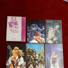 Postales: 8 POSTALES DE LUIS ROYO, 1985 (2 DE PROHIBITED). Lote 148057509