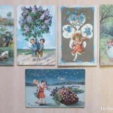 Postales: LOTE DE 5 TARJETAS POSTALES ANTIGUAS EAS INFANTILES. Lote 148216634