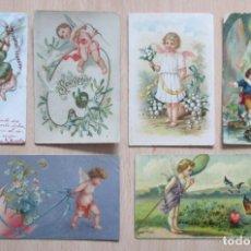 Postales: LOTE DE 6 TARJETAS POSTALES ANTIGUAS ÁNGELES. Lote 148221518