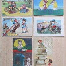 Postales: LOTE DE 6 TARJETAS POSTALES ANTIGUAS EDICIONES AMAG. Lote 148222714