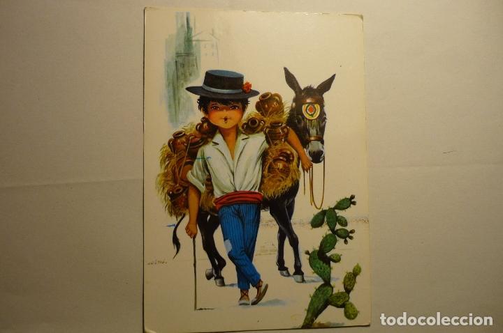 POSTAL DIBUJO BOTIJERO .-ESCRITA (Postales - Dibujos y Caricaturas)