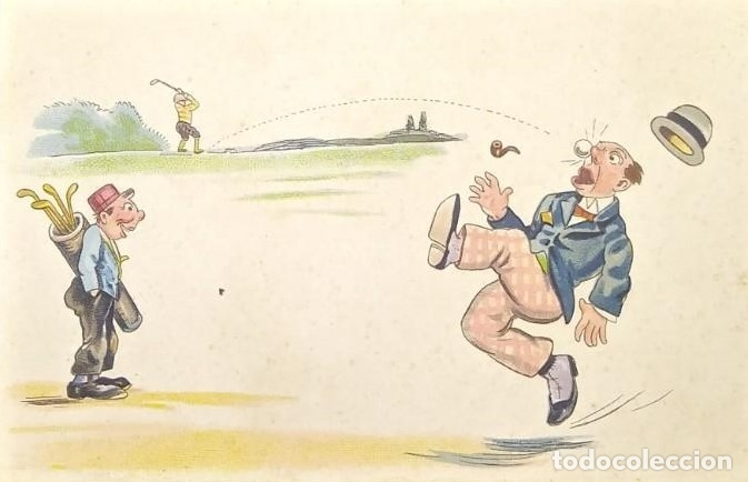 GOLF HUMOR SIN CIRCULAR 2835 IMPRESA EN ALEMANIA (Postales - Dibujos y Caricaturas)