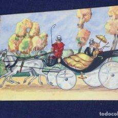 Postales: POSTAL CALESA DOS CABALLOS JAME VALVERDE SAN SEBASTIAN MITAD S XX . Lote 150554174