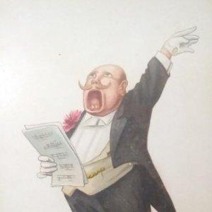 Caricatura Humor Músico Cantante 5352 impresa en Alemania