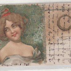 Postales: POSTAL ESTÉTICA MODERNISTA. ART NOUVEAU. CIRCULADA. . Lote 151402190